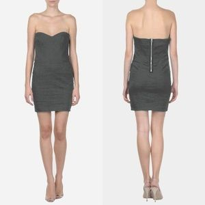 Isabel Marant Colin Stretch Linen Strapless dress
